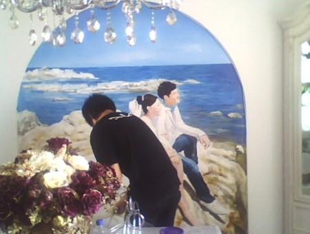 手绘婚纱照作品