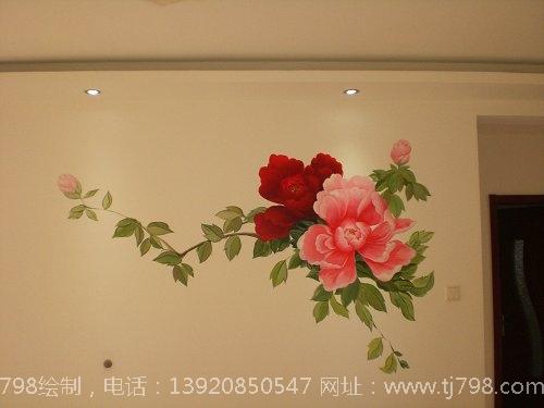 丙烯画牡丹花步骤图片